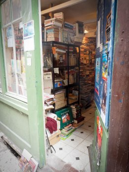 Second-hand bookshop. No space for people.