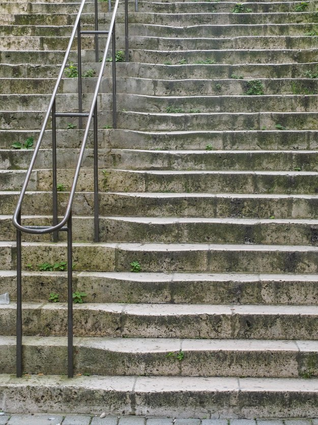 How many people must walk a stone staircase to leave their trace?
