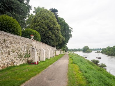 My road out of Blois, following the Loire upstream.