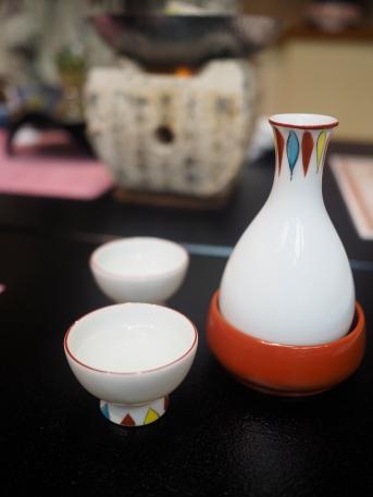 Warming the sake