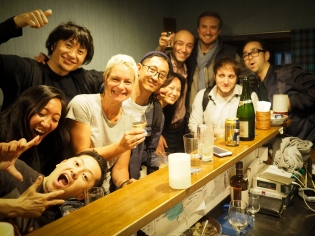 Wild night in a tiny bar with a celebrating film crew and aged Japanese single malts.