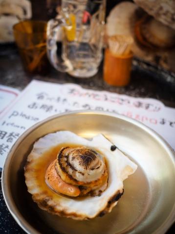My first clam. Tsukiji fish market, Tokyo