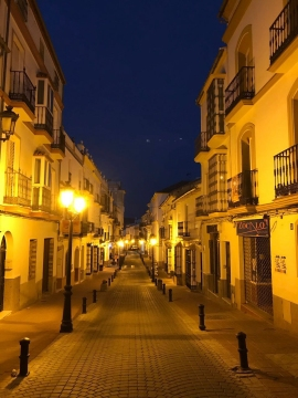 11pm in Olvera. Must be time for jamon.